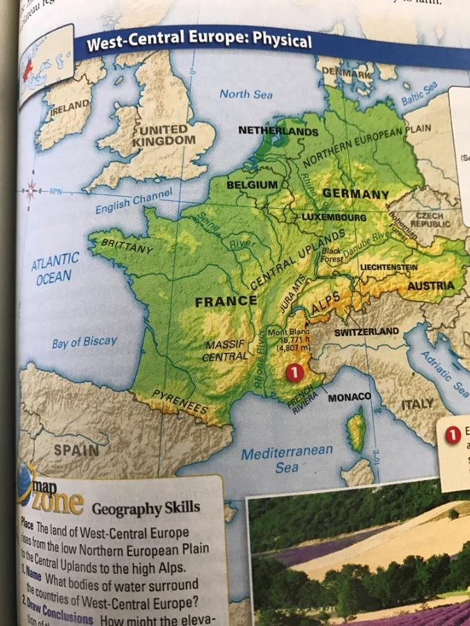 west central europe map Ch14 West Central Europe Maps   Harry Shimotsu Elementary